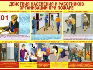 Действия населения и работников организаций при пожаре