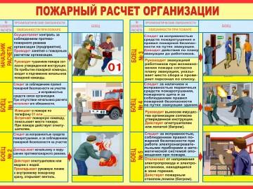 Пожарный расчет организации