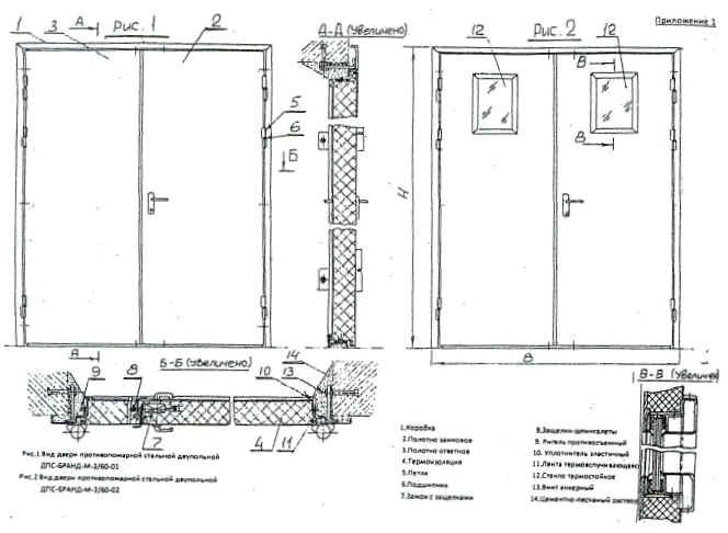 дверь наружная металлическая утеплённая противопожарная