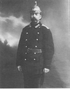 Брандмейстер пожарной части. 1913 г.
