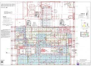 План трубной разводки спринклерной системы в здании полицейского департамента