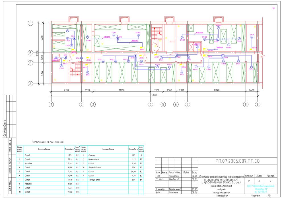 План расположения модулей