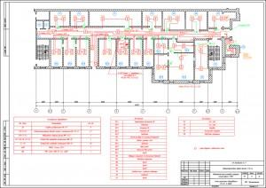 Схема размещения оборудования пожарной сигнализации
