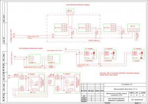 Схема монтажная подключений извещателей и оповещателей