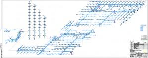 Аксонометрическая схема секции пожаротушения