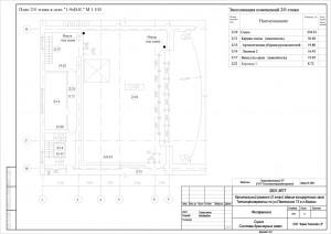 План прокладки трубопроводов на сцене