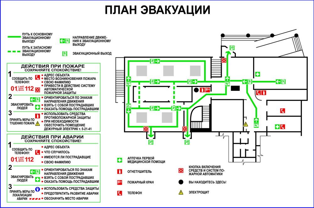 Нарисовать план эвакуации с