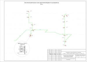 Аксонометрическая схема противопожарного водопровода