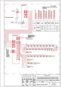 Структурная схема системы оповещения людей о пожаре