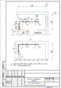 План расположения технологического оборудования