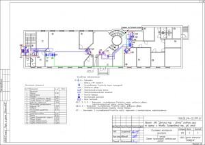 План расположения оборудования СКД
