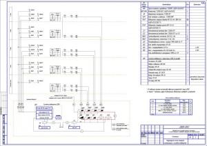 Структурная схема пожарной сигнализации и системы оповещения