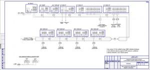 Схема электрическая подключений пожарной сигнлизации