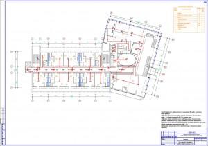 План размещения оборудования и проводки пожарной сигнализации