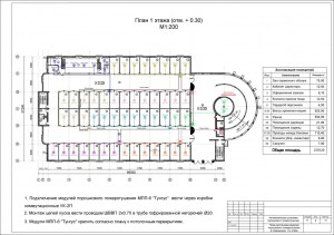 План расположения модулей пожаротушения