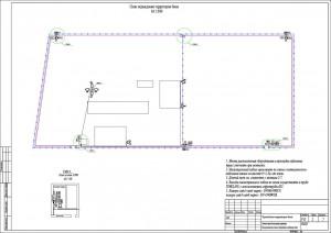 План расположения оборудования и проводок