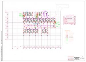 План расположения оборудования пожаротушения