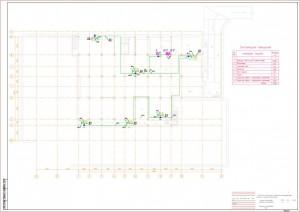 План расположения оборудования контроля загазованности
