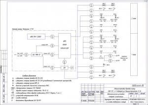 Структурная схема системы пожарной сигнализации и оповещения о пожаре