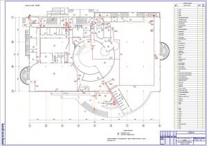 План расположения оборудования на 1 этаже