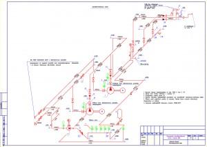 Аксонометричекая схема насосной станции