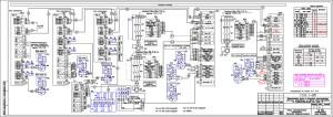 Схема электрическая соединений. Насосная станция пожаротушения