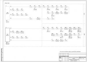 Структурная схема системы порошкового пожаротушения