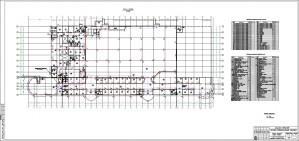 План расположения оборудования на первом этаже