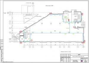 План расположения оборудования и электрических проводок