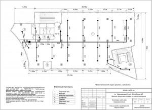 План прокладки трубопроводов на первом этаже