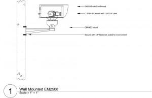 Схема монтажа уличной телекамеры наблюдения
