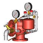 Узел управления спринклерный водозаполненный УУ-С150/1,6В-ВФ.О4-02 с камерой задержки (не более 10 сек)