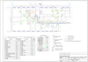 Система оповещения. Размещение оборудования и кабельных прокладок. 1 этаж