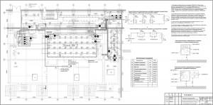Монтажная схема оборудования системы пожаротушения