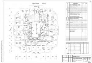 Монтажная схема пожарной сигнализации и системы оповещения