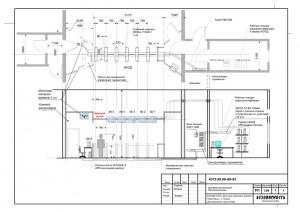 Расположение оборудования в центральной проходной