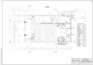 План расположения оборудования системы озвучивания