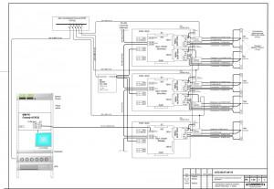 Схема электрическая подключений СКУД