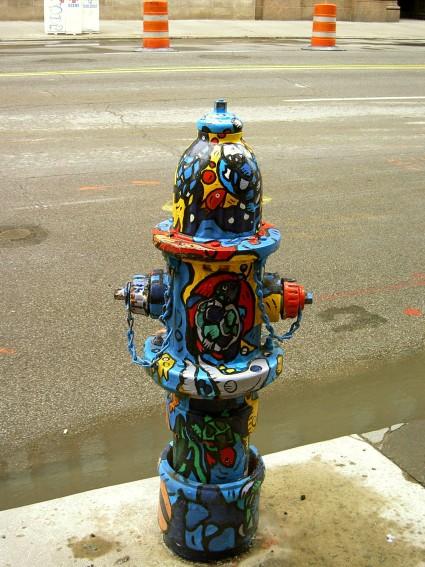 Раскрашенные гидранты в Кливленде