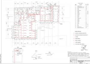 План разводки спринклерной сети на 1 этаже