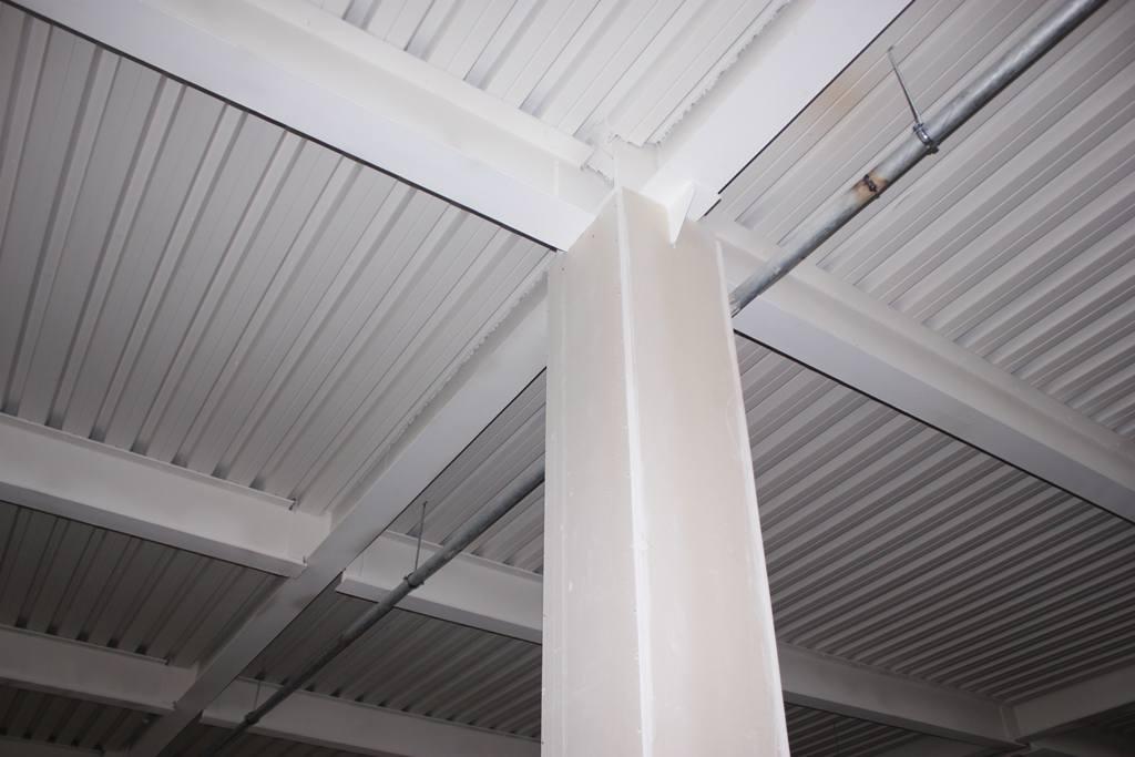 Огнезащита стальных колонн с помощью ГФЛ Гласрок