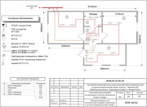 План сетей пожарной сигнализации и оповещения