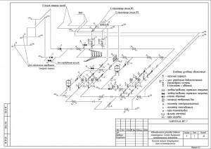 Аксонометрическая схема насосной станции пожаротушения