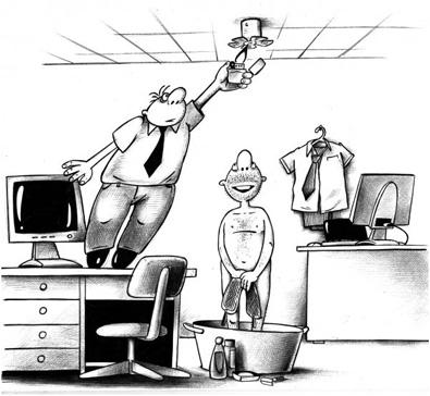 Карикатура. Спринклер