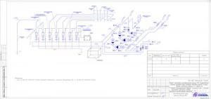 Аксонометрическая схема насосной станции АУПТ