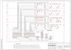 принципиальная схема пожарной сигнализации