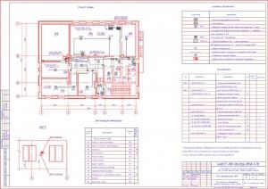 План размещения оборудования  пожарной сигнализации. План II этажа