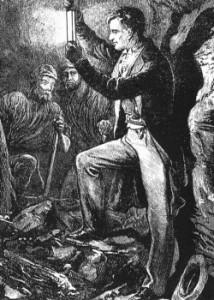Гемфри Дэви демонстрирует безопасную рудничную лампу