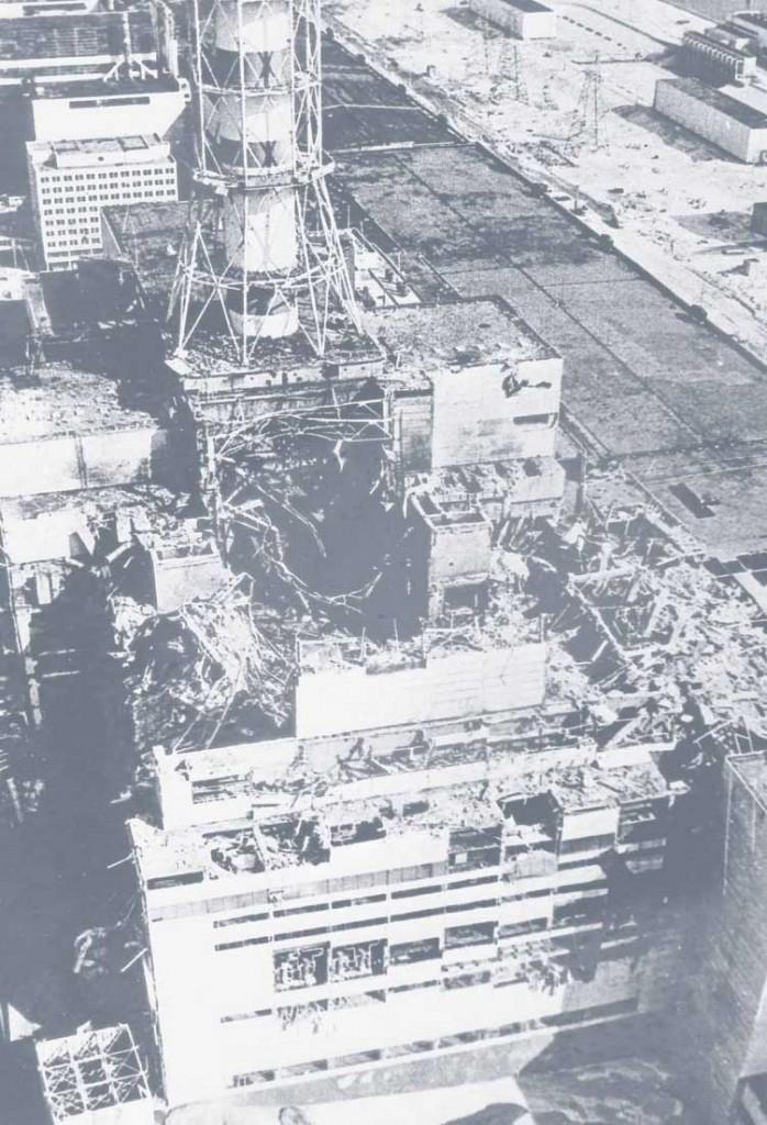 Разрушенный реактор 4-го энергоблока ЧАЭС
