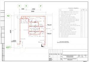 План расположения оборудования в помещении насосной станции